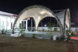 arched shape canopy